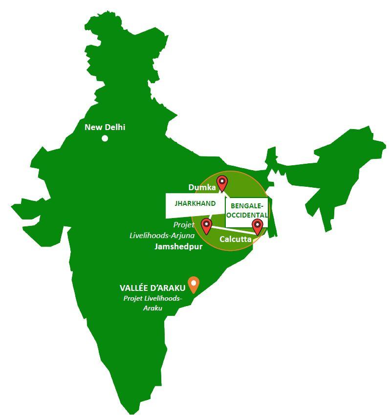 Livelihoods Arjuna project area